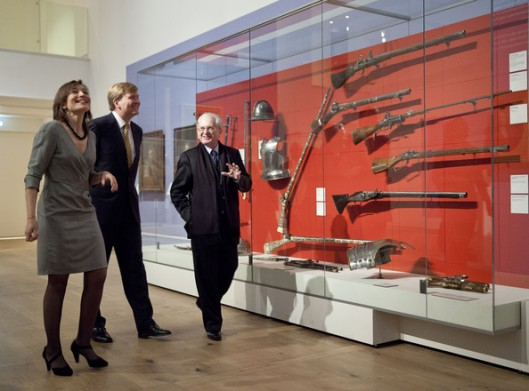Crown Prince Willem Alexander of The Netherlands, Cathelijne Broers and Mikhail Piotrovsky attend opening of the Tsar Peter exhibition at Hermitage on March 8, 2013 in Amsterdam. Photo by Michel Porro