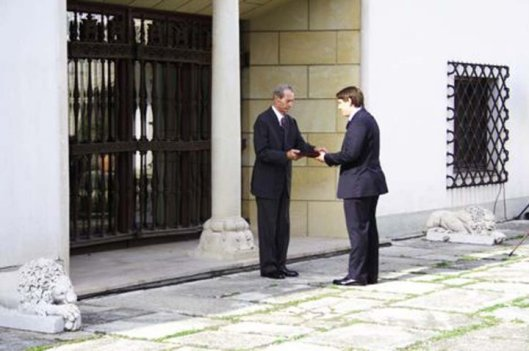 HM King Michael of Romanian & HRH Prince Nicholas, 14 June 2010, Bucharest